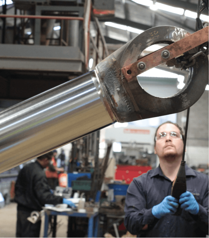 In-house facilities including hard chrome plating