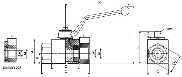 2 Way High Pressure Ball Valves dimensions (1)