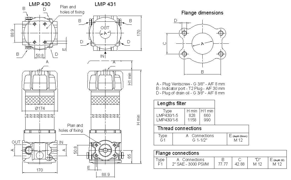 LMP-430SeriesDimensions
