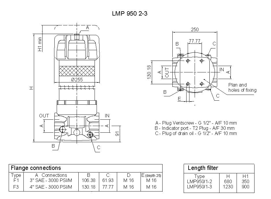 LMP950SeriesDimensions