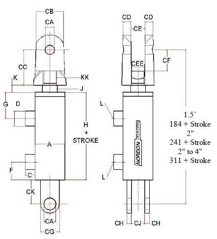 NA Series Dimensional Drawing