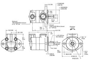 Eaton-Vickers-V10-Vane-Pumps-Dimensions