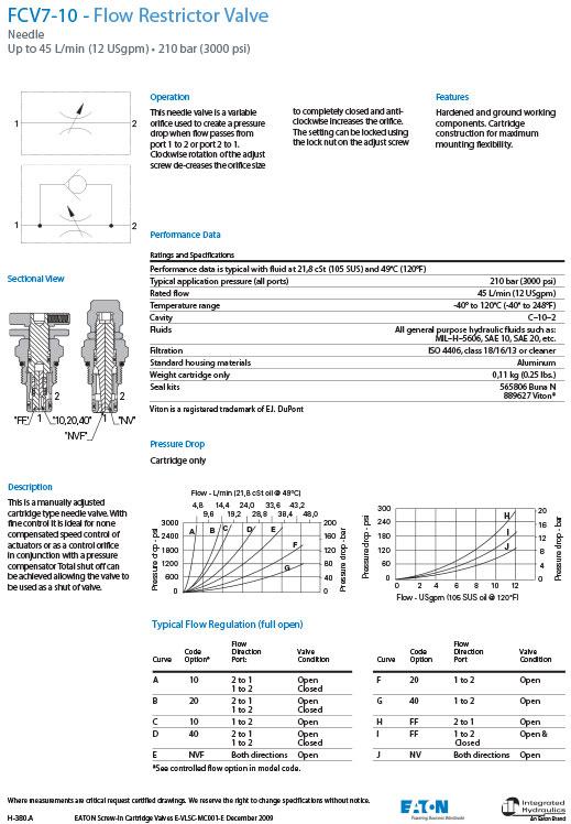 fcv7-10-flow-restrictor-valve